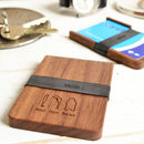 Man Gun Bear Wooden Wallet