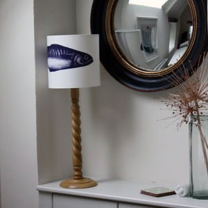 Linen Single Mackerel Lampshade - lamp bases & shades