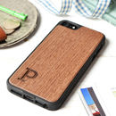 Personalised Letter Wood Cover For IPhone