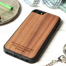 Personalised Wood Cover For Iphone