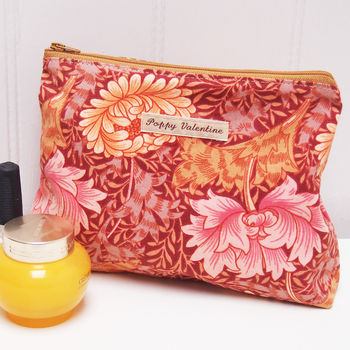 Make Up Bag William Morris Chrysanthemum - non personalised