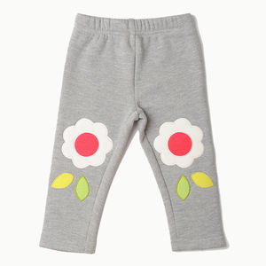 Grey Floral Appliqué Mix 'N' Match Trousers - clothing