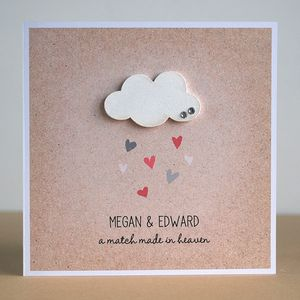 A Match Made In Heaven Personalised Wedding Card