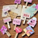 Girly Filing Pegs Christmas Offer