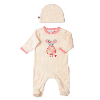 Margot And Mo Newborn Playsuit And Hat Set Was £30
