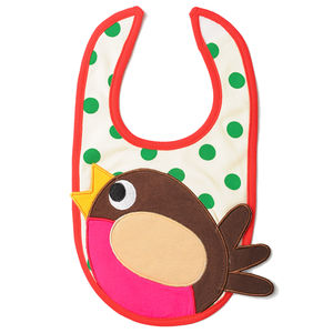 Roberta The Robin Appliqué Bib - baby care