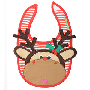 Maximillian The Moose Appliqué Bib