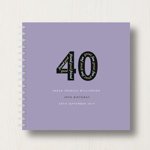 Personalised 40th Birthday Memories Album - 40th birthday gifts