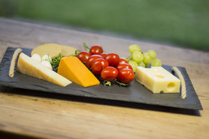 Slate Cheeseboard With Jute Rope Handles - cheese boards & knives