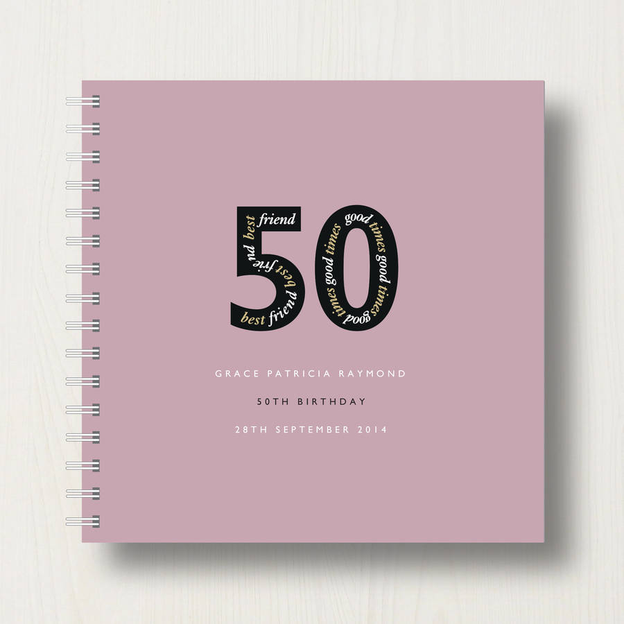 Personalised 50th Birthday Memories Album