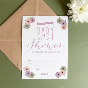 12 X Baby Shower Invitations