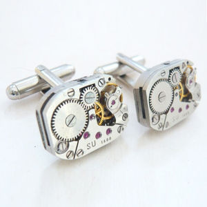 Vintage Steampunk Watch Mechanism Cufflinks - women's jewellery