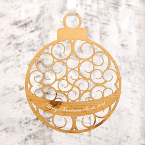Personalised Bauble Christmas Decoration - tree decorations
