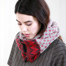 Chevron Knitted Circle Scarf | Russet
