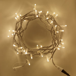 Warm White Connectable String Lights - garden