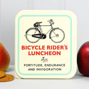 Bicycle Rider's Lunch Box - garden sale