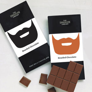 Bearded Chocolate Bar - stocking fillers under £15