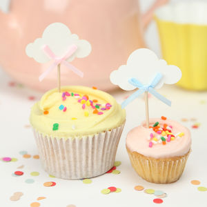 Baby Shower Cloud Cake Toppers - baby shower decorations