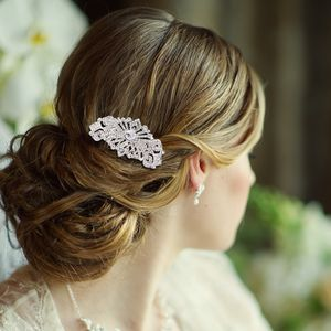 Adella Crystal Hair Comb - wedding jewellery