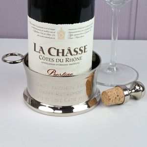 Personalised Engraved Wine Bottle Coaster - dining room