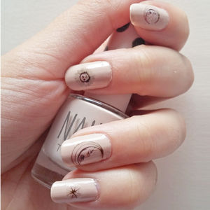 'Sun And Moon' Nail Transfers