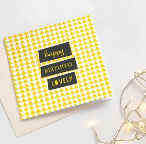 'Happy Birthday Lovely'