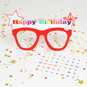 Customisable Happy Birthday Glasses