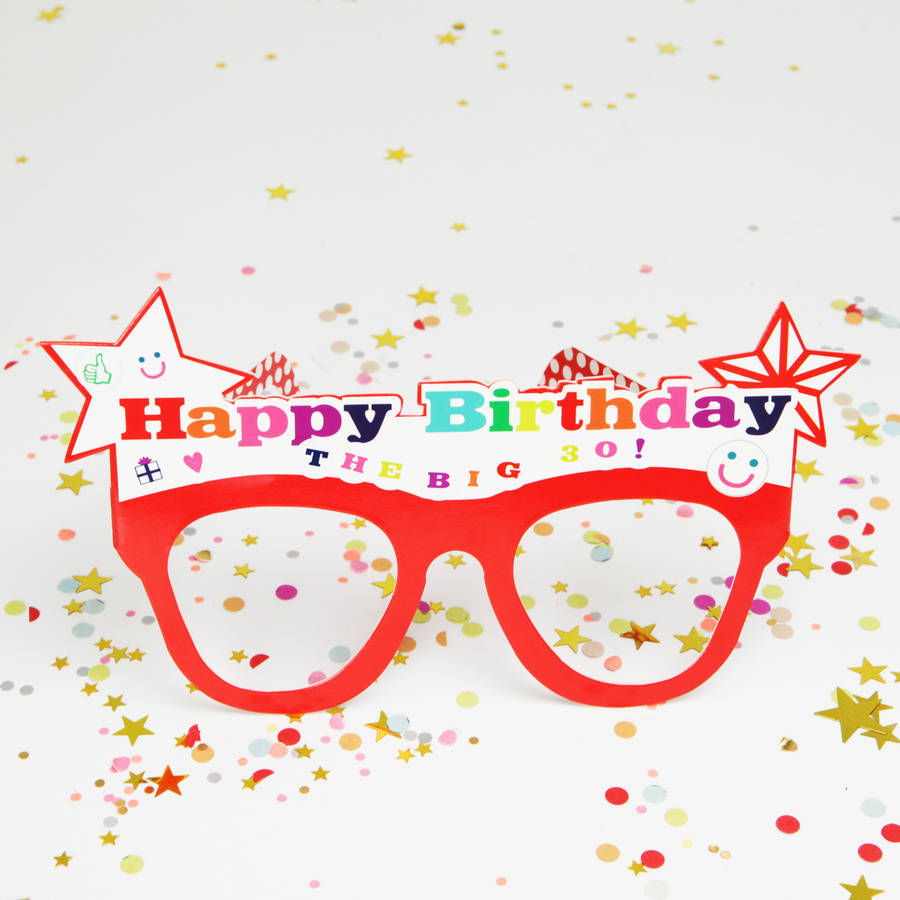 customisable happy birthday glasses by postbox party ...