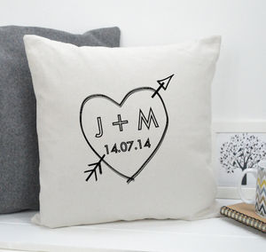 Personalised Love Heart Cushion - cushions