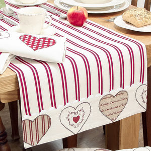 4th Anniversary Heart Table Linen Gift Set - anniversary gifts