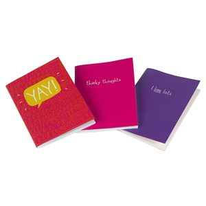 ' Christmas Stocking Filler' Three Mini Notebooks