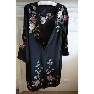 Peony Silk Coat - women's accessories