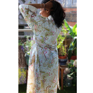 Paisley Flora Kimono Dressing Gown - women's fashion