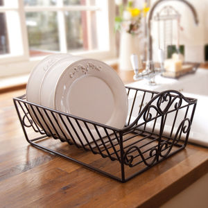 Heart Iron Plate Rack For Display And Drying