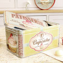Homemade Buns And Pastries Retro Storage Tin
