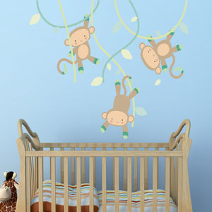 Swinging Monkey Wall Stickers - decorative accessories