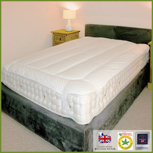 Deluxe Wool Filled Mattress Topper - bed, bath & table linen