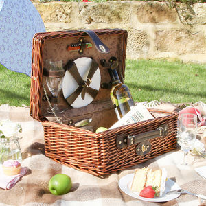 Rattan Picnic Hamper For Two - camping