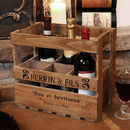 Wooden Six Wine Bottle Storage Crate