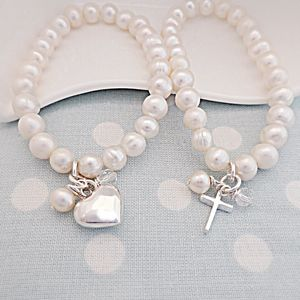 Pearl Christening Bracelet - holy communion celebrations