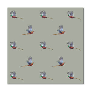 Flying Pheasant Greeting Card