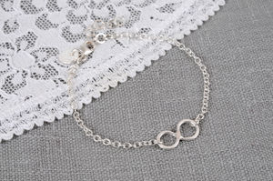 Personalised Sterling Silver Infinity Charm Bracelet