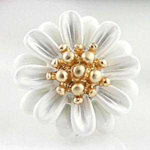 Detailed Daisy Enamel Earrings - earrings