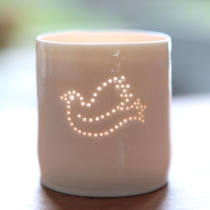 Porcelain Dove Tea Light - tableware