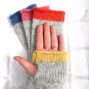 Fingerless Gloves Knitting Kit - knitting kits