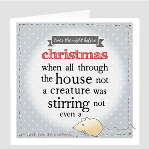 A Personalised 'Twas The Night Before Christmas' Card