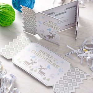 Alpine Deer Christmas Cracker Card - christmas parties & entertaining