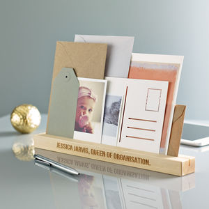 Personalised Desk Organiser - storage & organisers