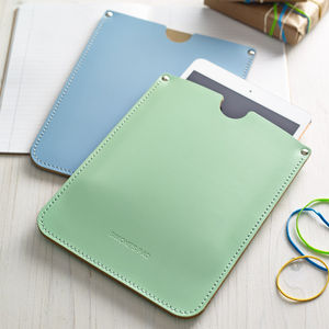 Personalised Corporate Leather Sleeve For iPad - tablet accessories