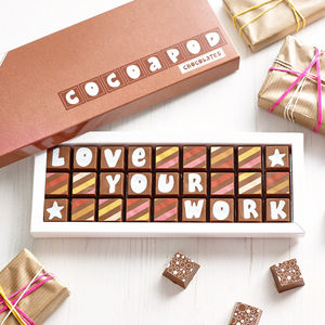 Personalised Corporate Event Box Of Chocolates - novelty chocolates